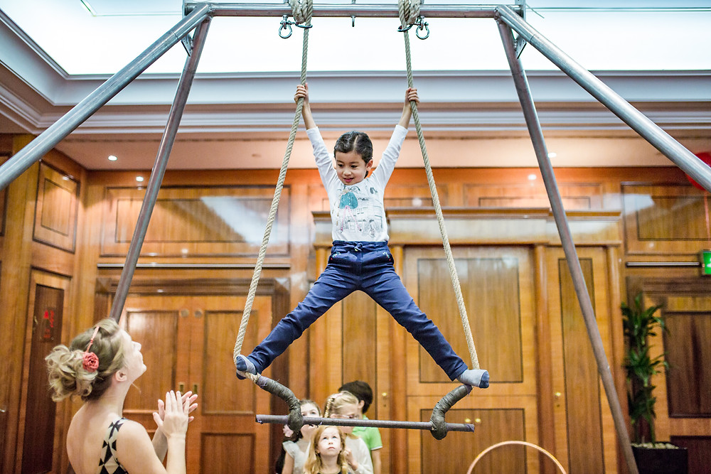 trapeze children's party experience