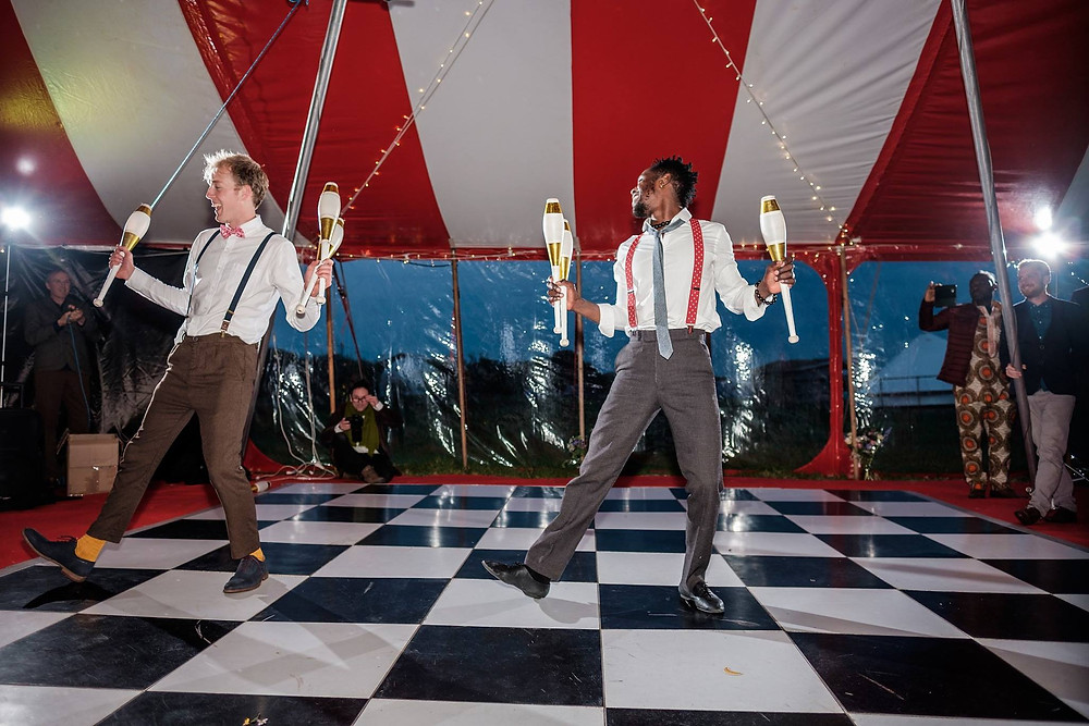 High energy circus performers