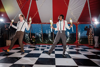 Circus Performers for a Wedding