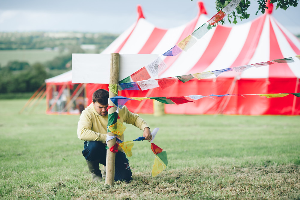 Festival Theme Wedding at Glastonbury