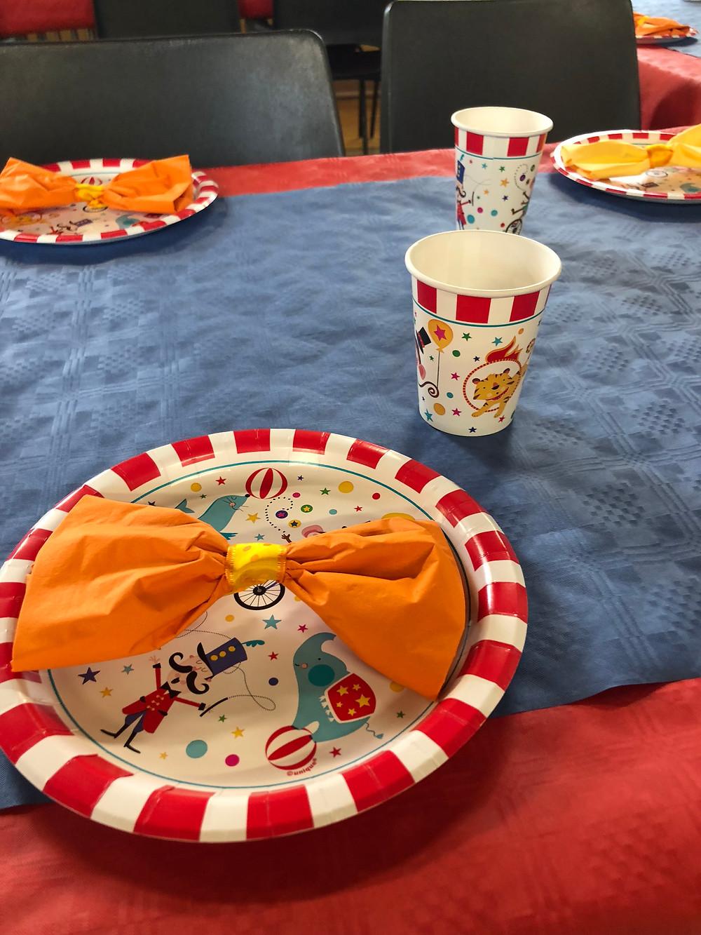 children's party crockery