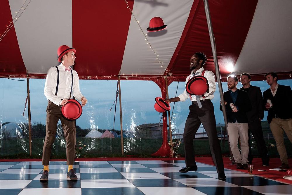 UK Jugglers Lucas Jet and Moses