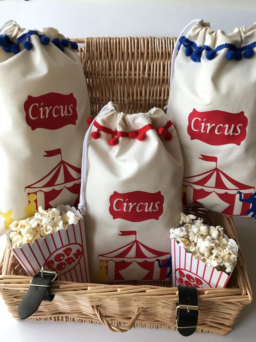 circus theme party bags