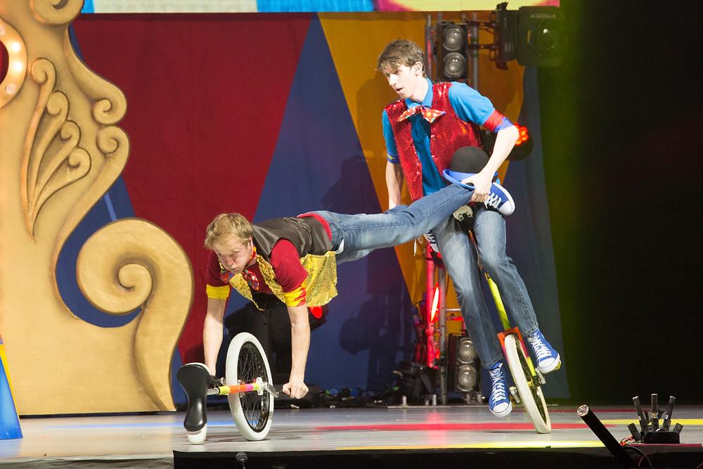 circus act unicyclist