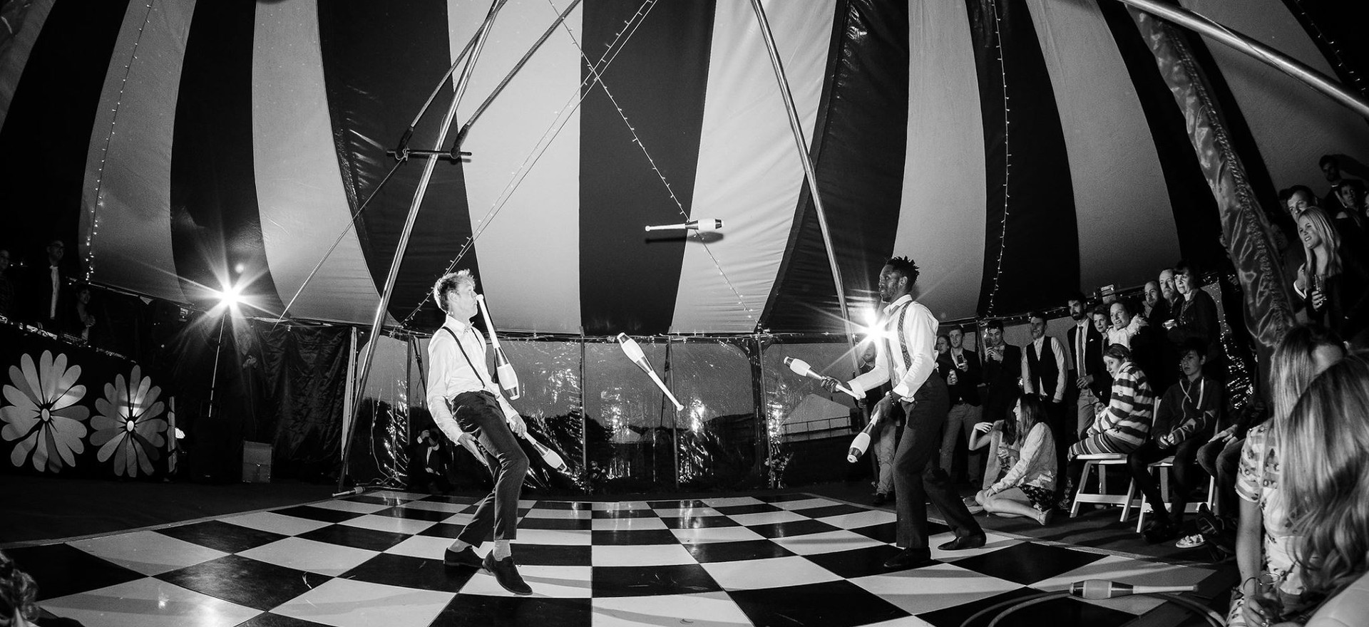 Circus performers for wedding