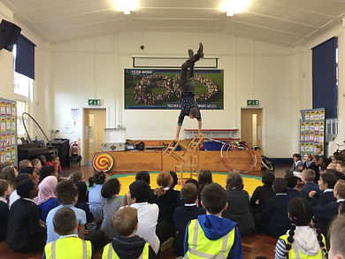 Circus workshops for schools