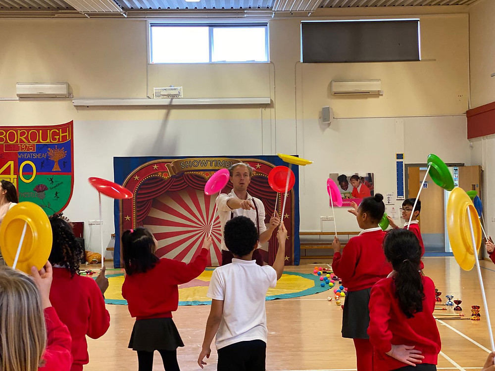 Circus Skills workshop for Primary School