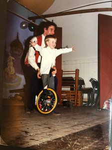Young circus performer for kids party