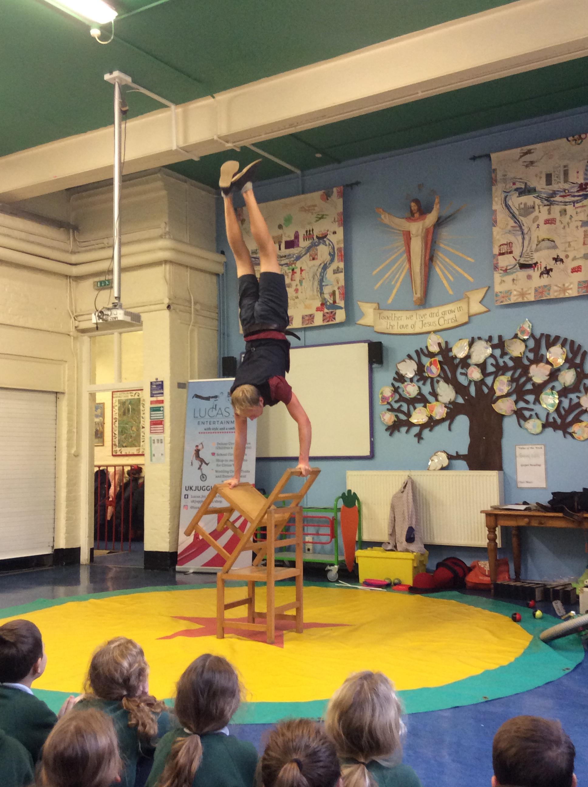 acrobatic school circus show
