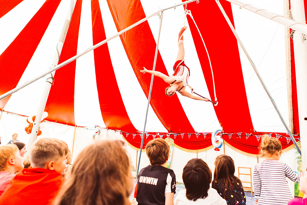 trapeze artist for circus party