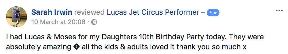Parent Review | Circus Themed Children's Entertainer | Circus Theme Party | United Kingdom