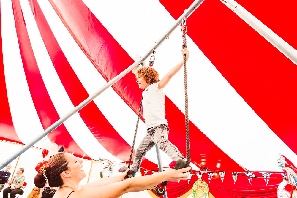 trapeze lessons for children's party