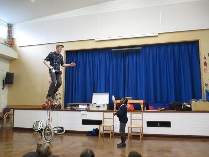 school circus workshop day