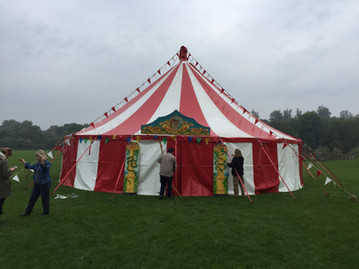 Film production circus backdrop