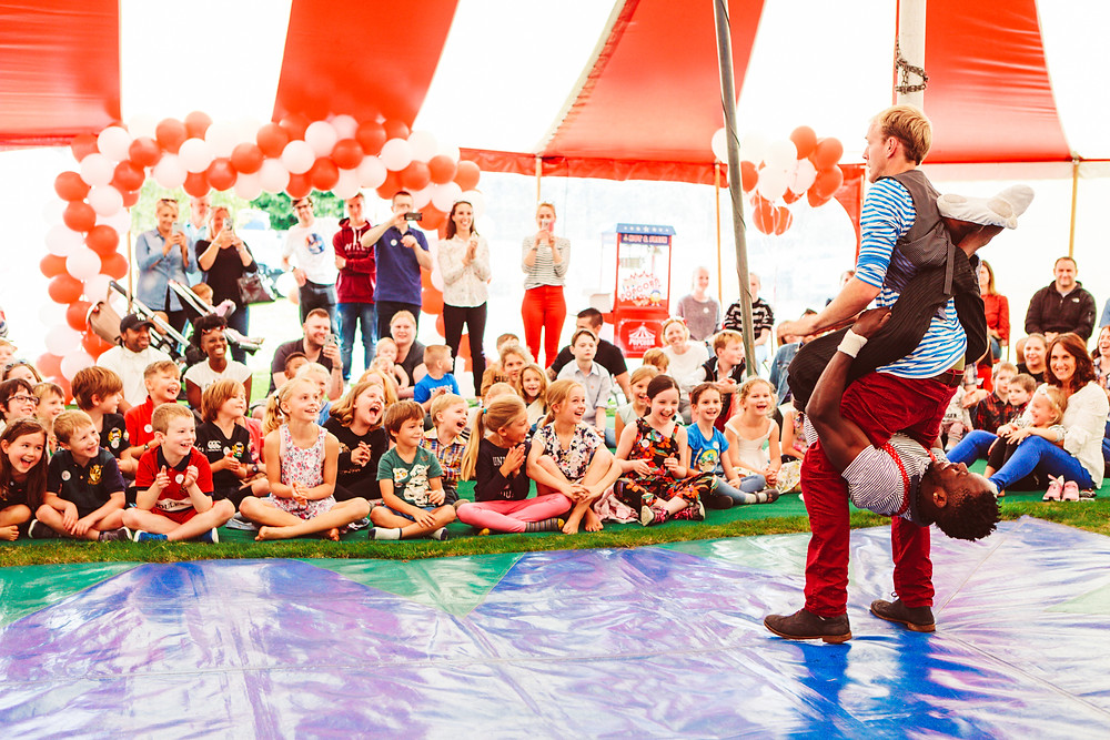 circus skills kids party