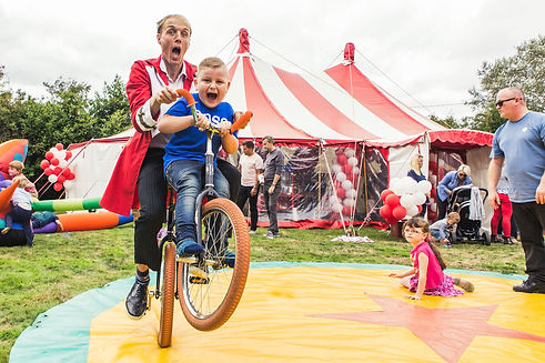 kid party circus big top hire