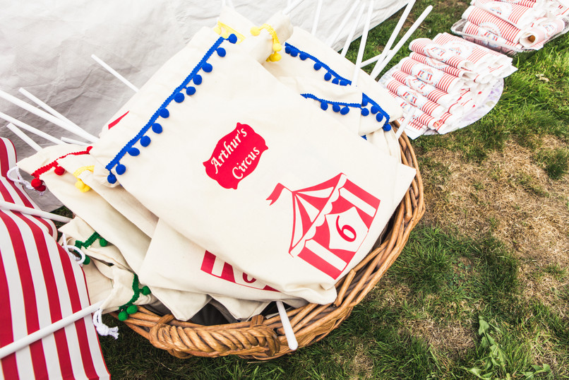 personalised circus party bags