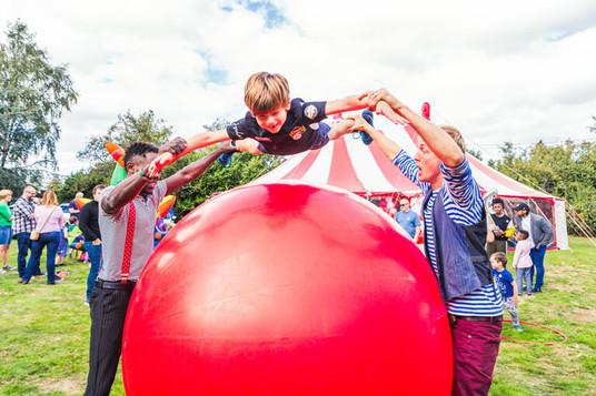 Your children will love the mega ball!