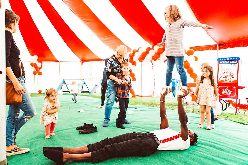 acrobatic party