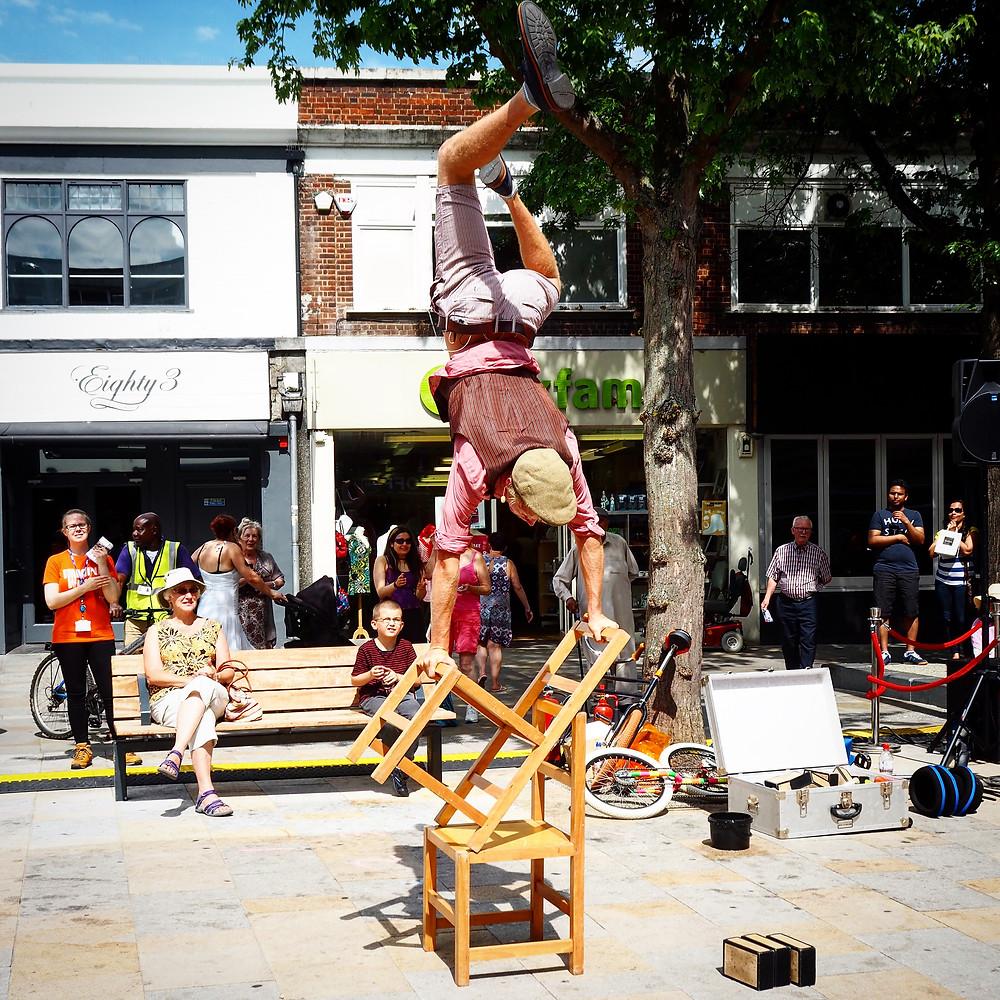 Skillful circus performance