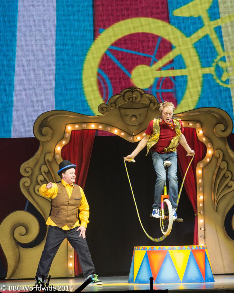 unicycle stunt show