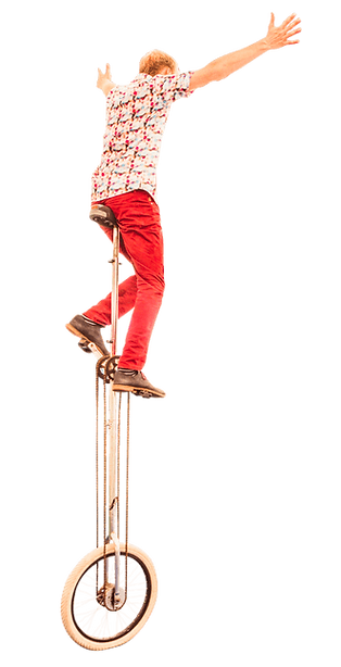 unicyclist for events in UK