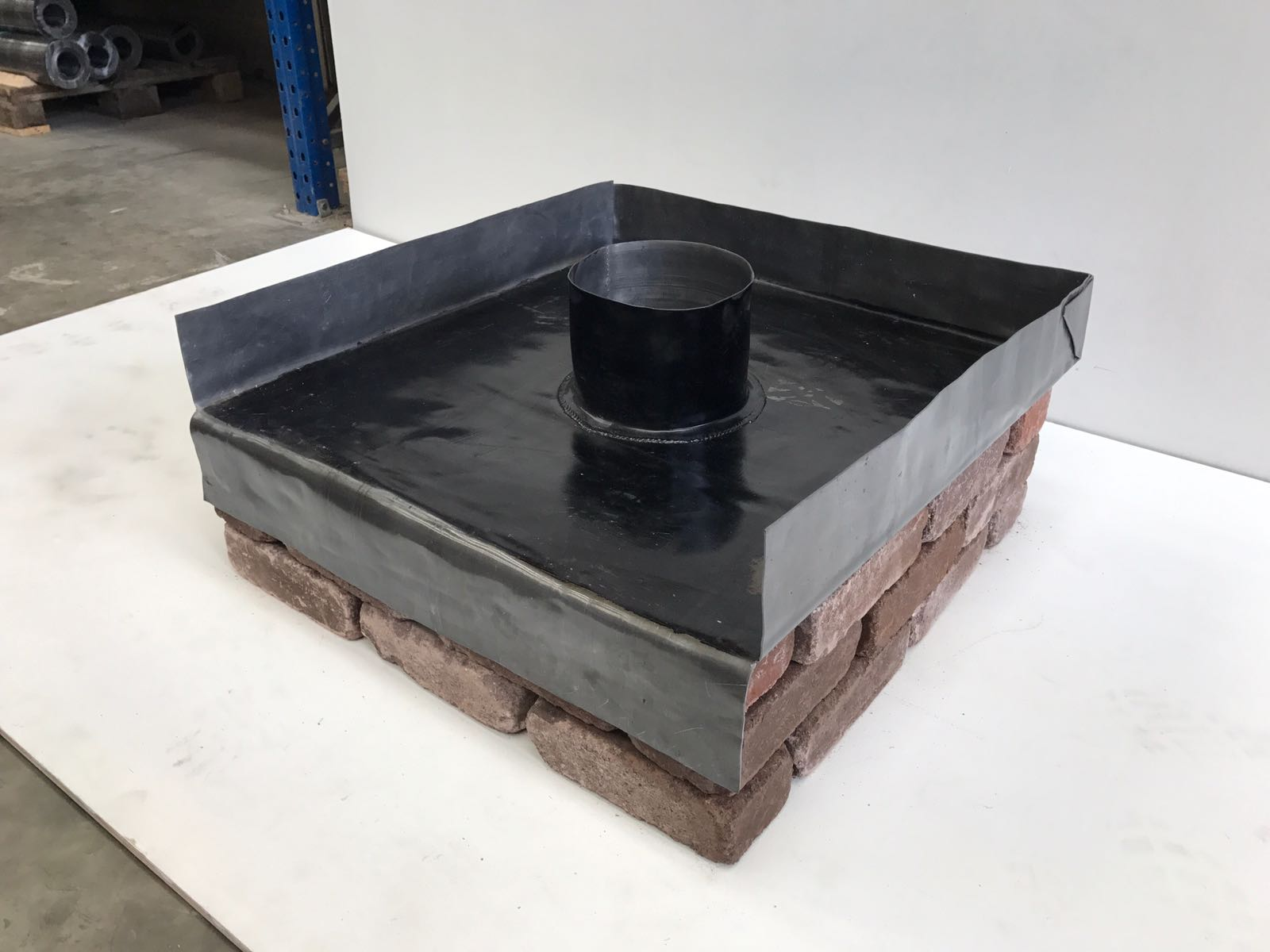 lead chimney tray