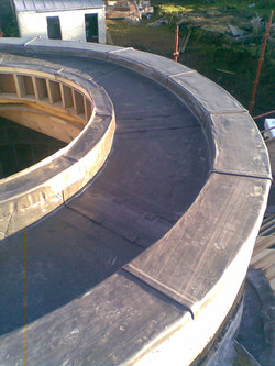 lead coping curved