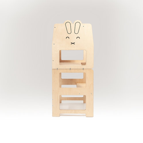 Convertible kitchen tower for toddler  /rabbit natural/