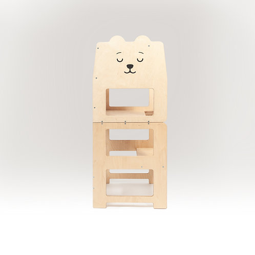 Convertible kitchen tower for toddler  /bear natural/