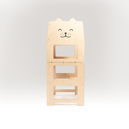 Convertible kitchen tower for toddler  /cat natural/