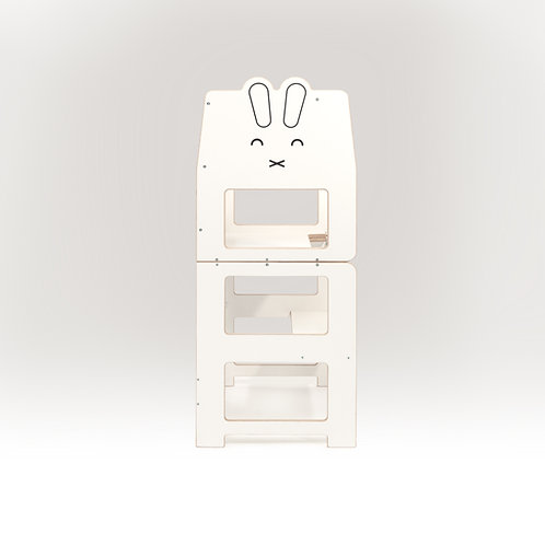 Convertible kitchen tower for toddler  /rabbit white/