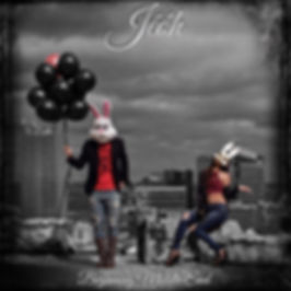 Man And Woman Wearing Bunny Masks With Man Holding Balloons