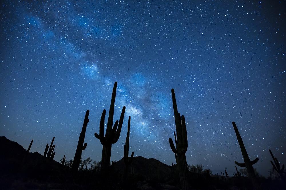 גלקסית שביל החלב כפי שניתן לראות אותה בשמי הערב