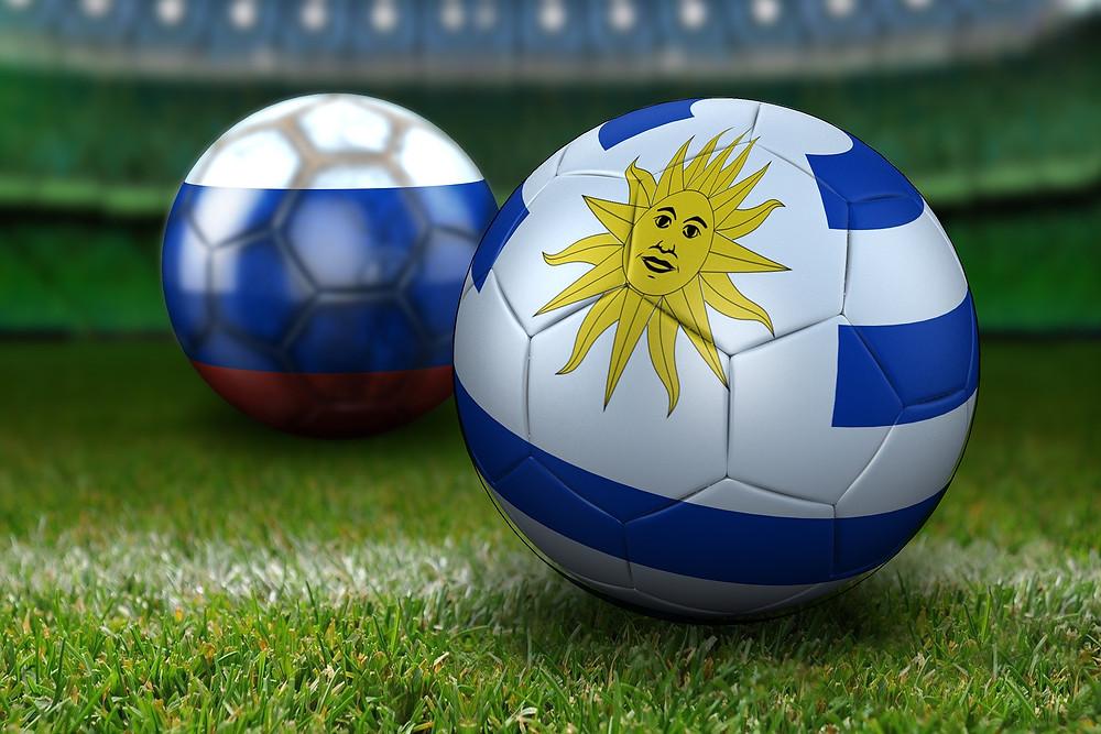 כדורגל עם ציור של דגל אורוגוואי
