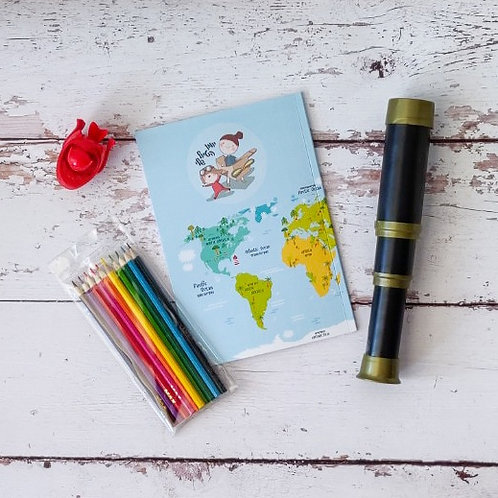 """יומן הטיול שלי לילדים - לחופשות בחו""""ל"""