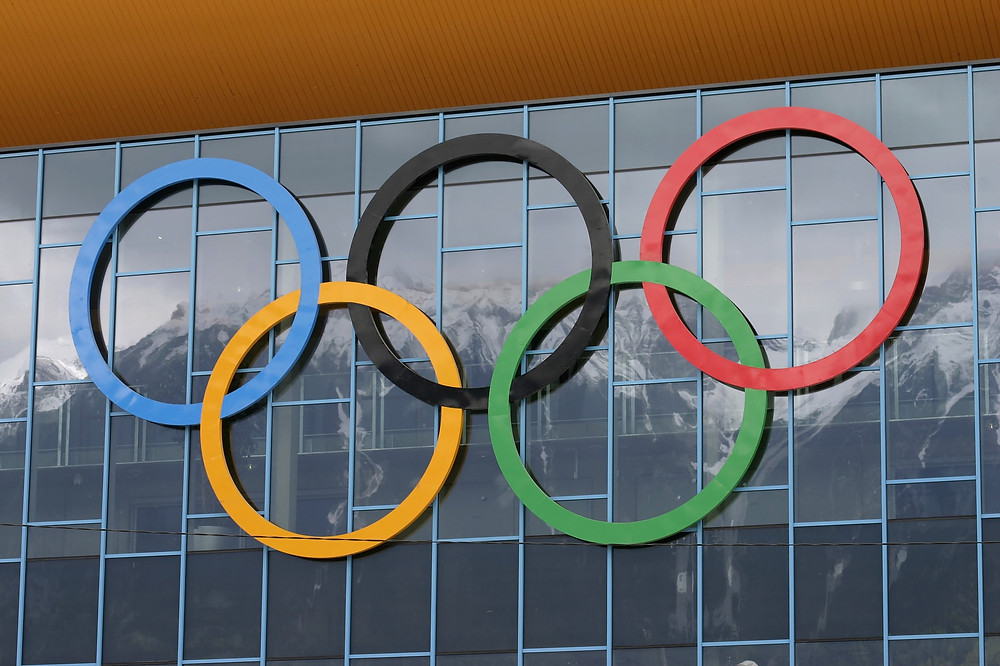 חמש הטבעות הצבעוניות המהוות את סמל האולימפיאדה