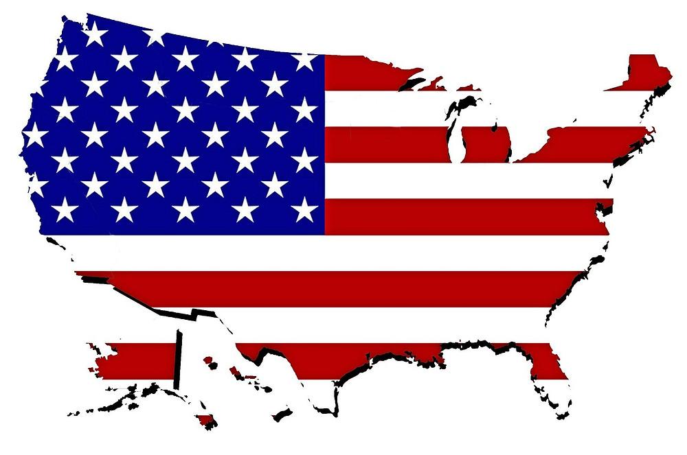 מפת ארצות הברית בצורת הפדרציה