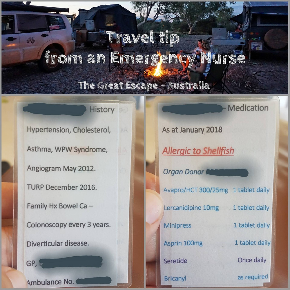 travel tip from an emergency nurse