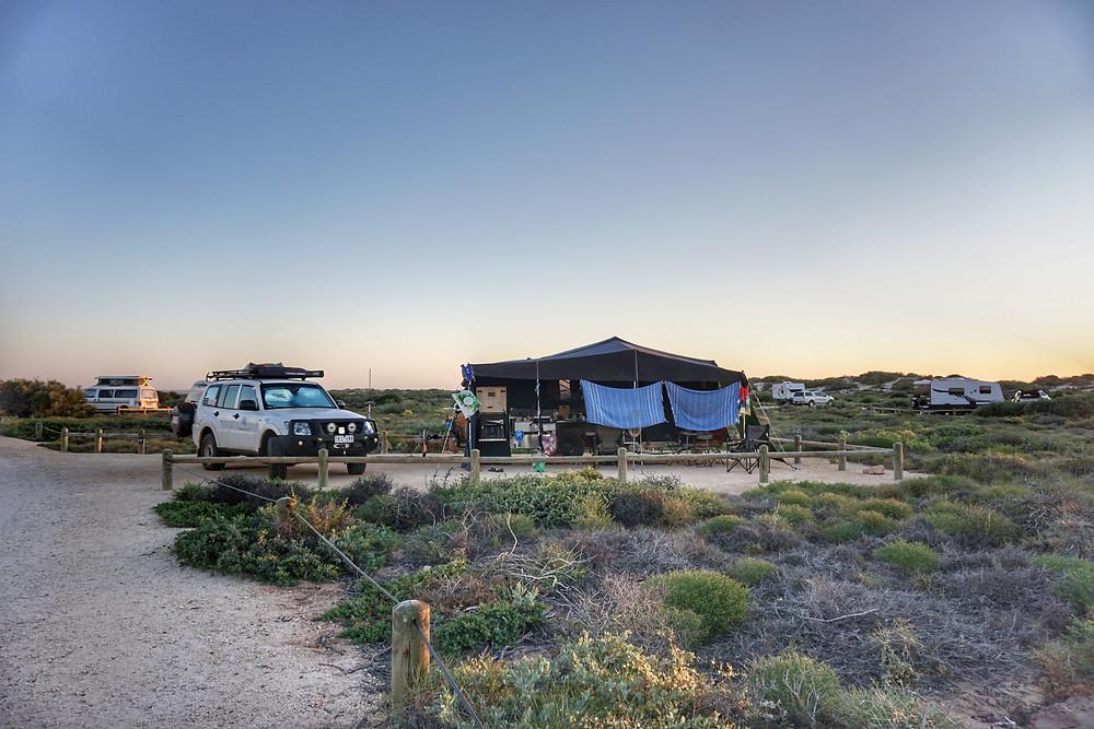 Camping at Cape Range National Park