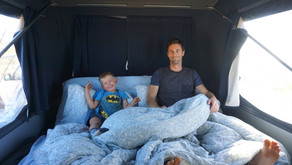CAMPER TRAILER BED TO COUCH DIY CONVERSION!