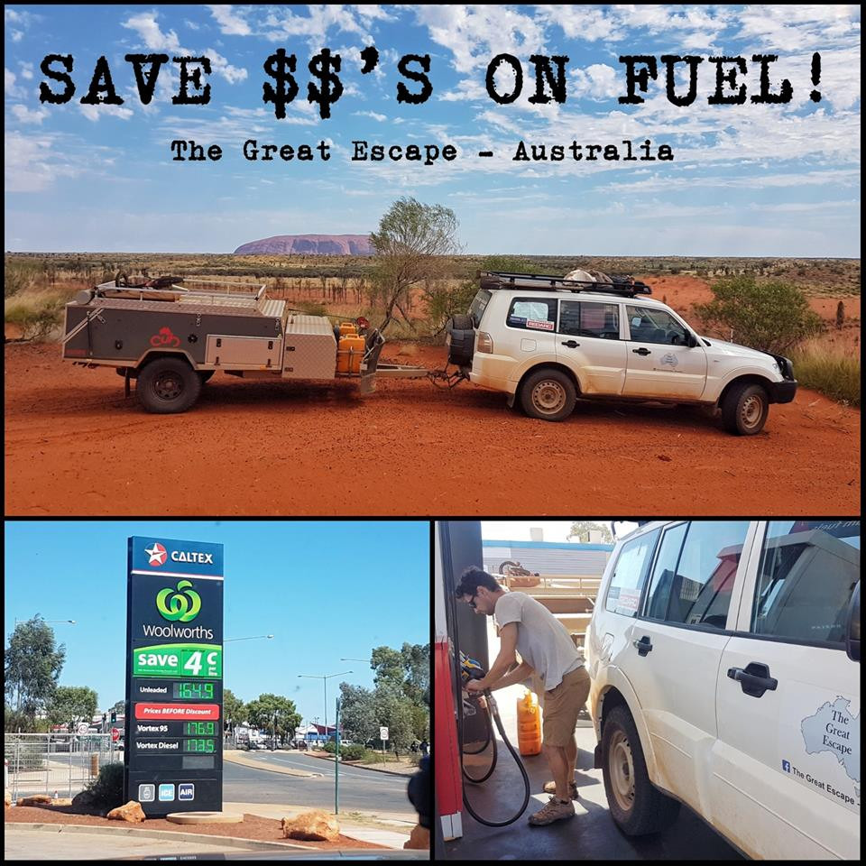 Save $$'s on fuel with The Great Escape - Australia