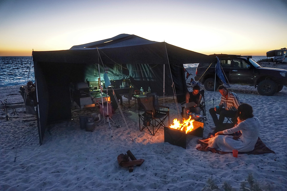 Beach camping at Warroora Station