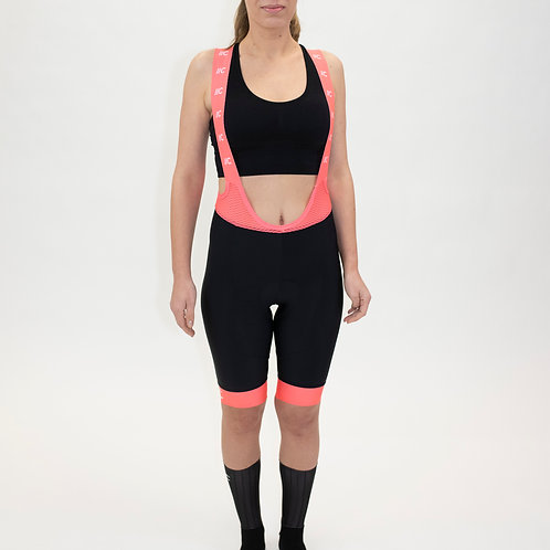 Bib Shorts Fire&Ice Coral Fluo