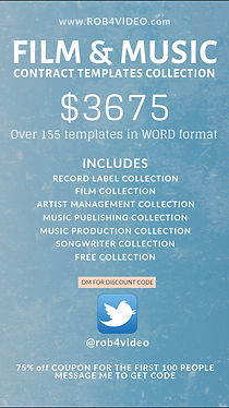 Film and Music Contract Template COMPLETE Collection | Robert Zeigler Visuals