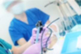 Doctor performs endoscopic procedure in