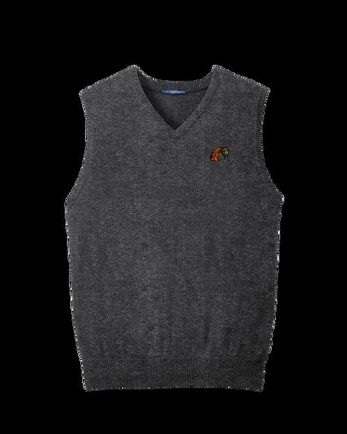 81 Embroidered V-Neck Sweater Vest