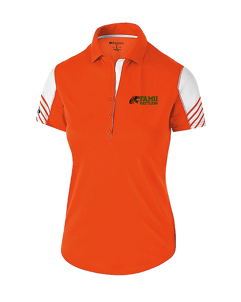 71 Ladies Embroidered Arc Polo