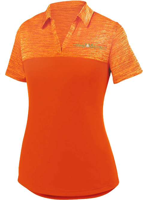 49 Ladies Shadow Embroidered Polo
