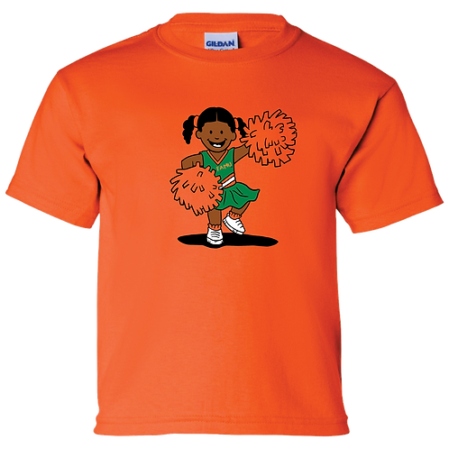 7 Little Cheerleader Spirit Tee